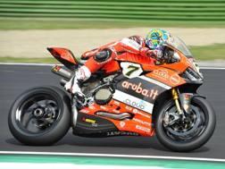 Chaz Davies sulla Ducati. Getty