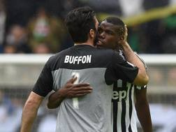 Gigi Buffon e Paul Pogba: un 7 per entrambi. Getty