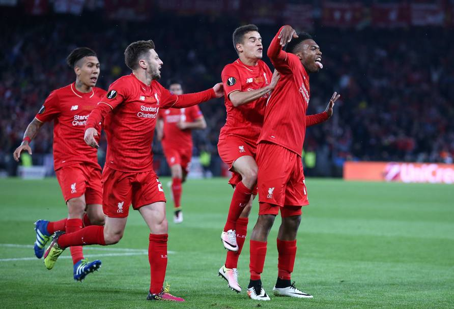 L'esultanza di Sturridge e compagni. Getty