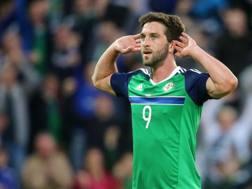 Will Grigg, attaccante dell'Irlanda del Nord. LaPresse