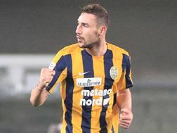 Artur Ionita, 25 anni, centrocampista moldavo del Verona. LaPresse