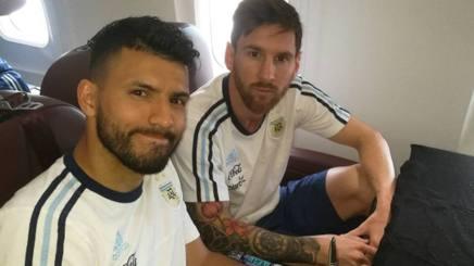 Sergio Aguero e Leo Messi