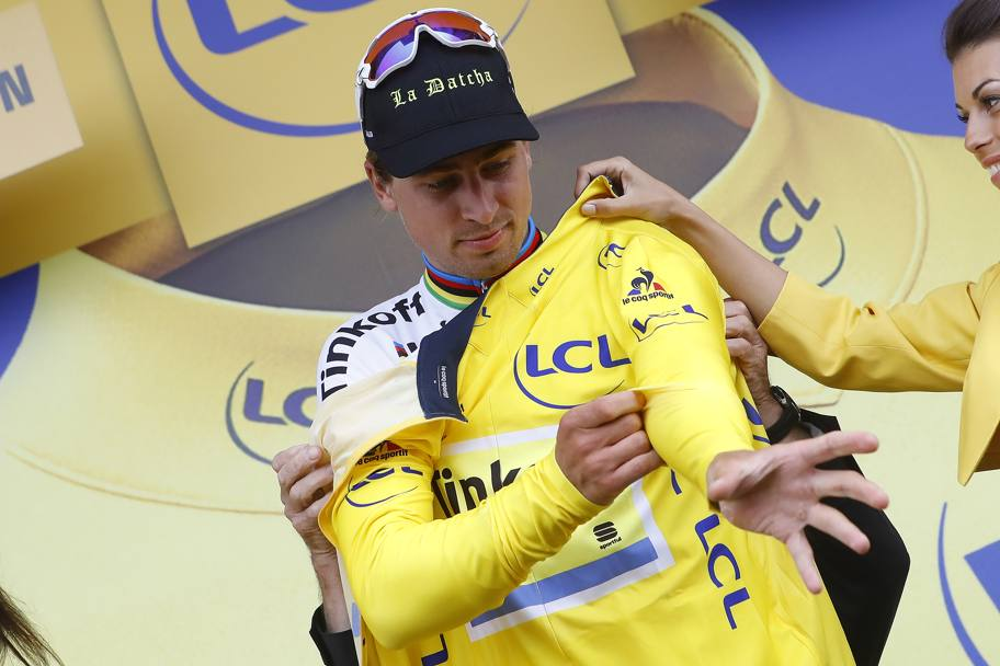 Peter Sagan vince la seconda tappa del Tour de France, Saint Lo-Cherbourg. E prende la testa della classifica generale. Bettini