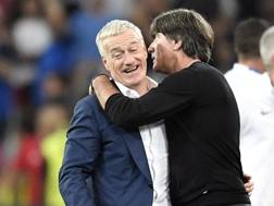 Didier Deschamps e Joachim Löw, confermati sulle panchine di Francia e Germania. Ap