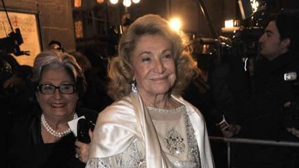 Marta Marzotto a una Prima della Scala. LaPresse