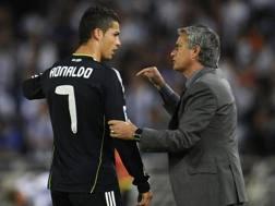 Ronaldo e Mourinho, ai tempi del Real. Reuters