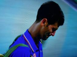 Novak Djokovic in lacrime