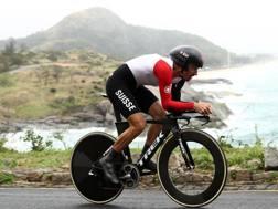 Fabian Cancellara, 35 anni, durante la crono di Rio. Getty