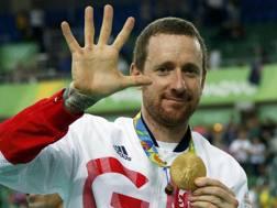 Bradley Wiggins festeggia il quinto oro olimpico. Reuters