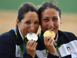 Chiara Cainero e Diana Bacosi. Getty