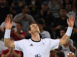 La gioia di Andy Murray a fine gara. Reuters
