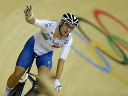 Elia Viviani,27 anni, in pista a Rio. Ap