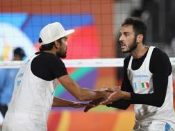 Daniele Lupo (sinistra) e Paolo Nicolai alla seconda Olimpiade