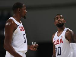 Kevin Durant e Kyrie Irving, stelle di Team Usa. Getty