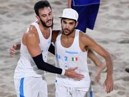Il duo azzurro del beach, a caccia dell'oro. Ansa