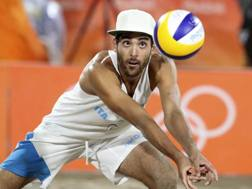 Daniele Lupo durante la finale olimpica di beach volley a Rio. Ap