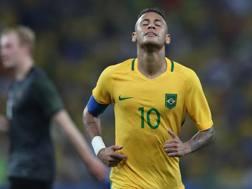 La stella del Brasile Neymar, 24 anni. LaPresse