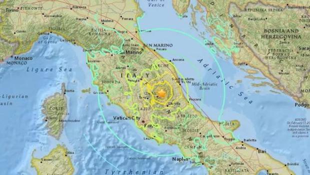 Cartina Abruzzo E Lazio.Terremoto Epicentro Tra Lazio E Abruzzo Lo