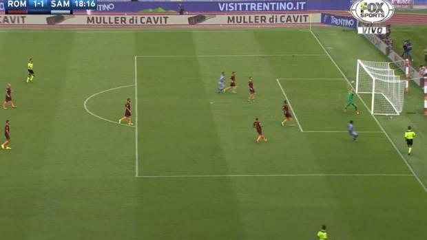 Il gol meraviglioso di Muriel che vale il momentaneo 1-1 tra Roma e Sampdoria