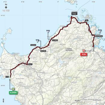 Cartina Sardegna 2017.Il Giro D Italia Numero 100 Parte Dalla Sardegna