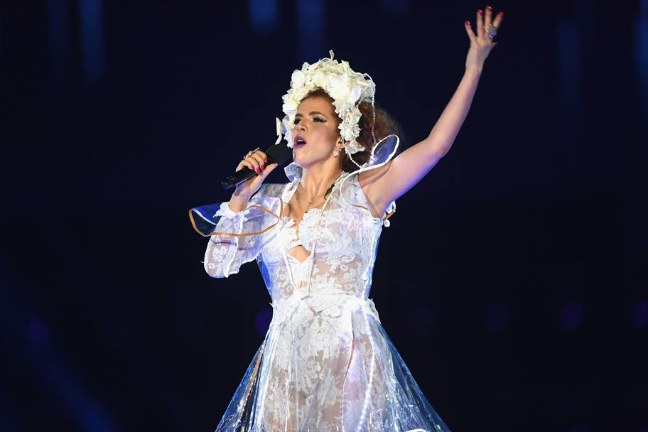La performance di Vanessa da Mata (Getty Images)