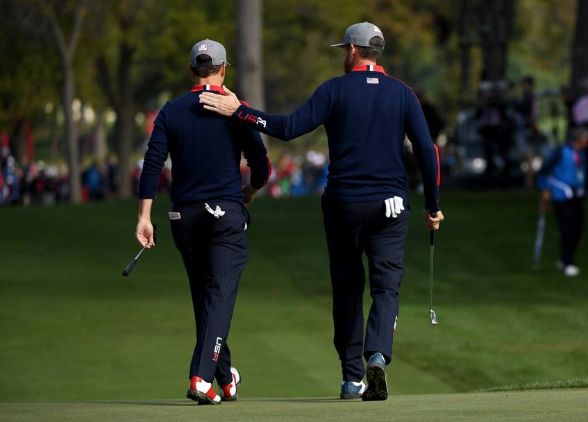 Gli americani Zach Johnson e Jimmy Walker  AFP