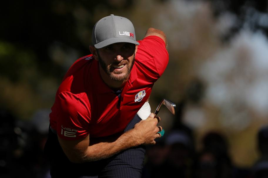 L'americano Dustin Johnson AFP