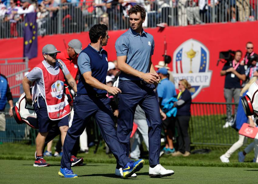 Rory McIlroy e Thomas Pieters AFP