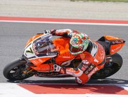 Chaz Davies sulla Ducati Superbike. LaPresse