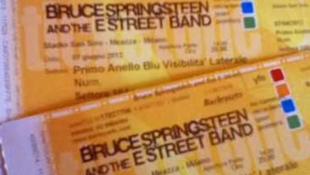 Biglietti per il concerto del Boss a San Siro