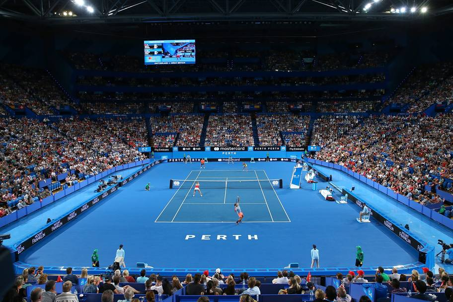 Oltre 13.500 persone a Perth per vedere Federer. Getty Images