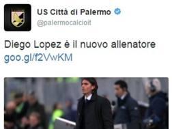 Diego Lopez è il nuovo allenatore del Palermo. LaPresse
