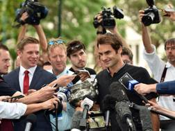 Il day after di Roger Federer, 35 anni. Afp