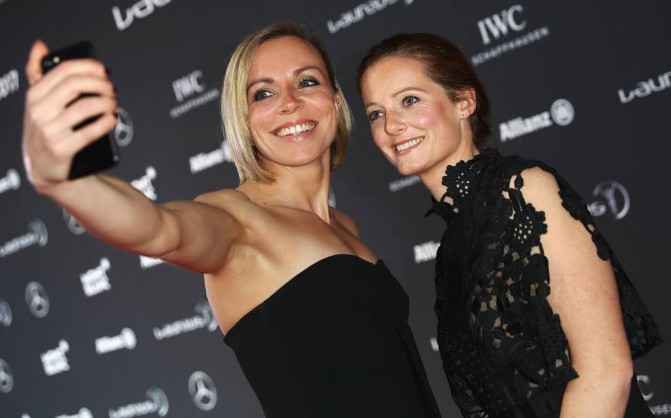 Selfie per Kate Richardson-Walsh ed Helen Richardson-Walsh. Getty
