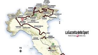 Il percorso del Giro 100