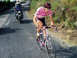 Gianni Bugno al Giro d'Italia del 1990. Bettini