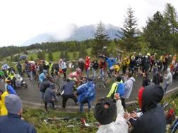Kruijswijk, Contador e Landa sul Mortirolo al Giro 2016, l'anno dell'ultimo passaggio. Bettini