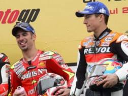 Marco Melandri con Nicky Hayden i tempi della MotoGP