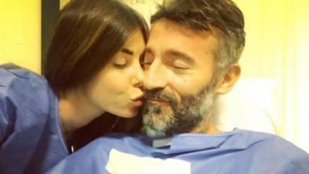 Max Biaggi, 46 anni, con la  compagnia  Bianca Atze. Archivio