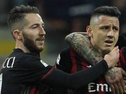 Bertolacci e Lapadula insieme al Milan durante la passata stagione. Twitter