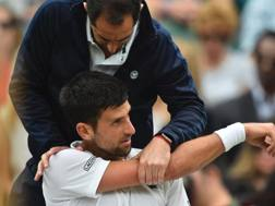 Djokovic a Wimbledon AFP