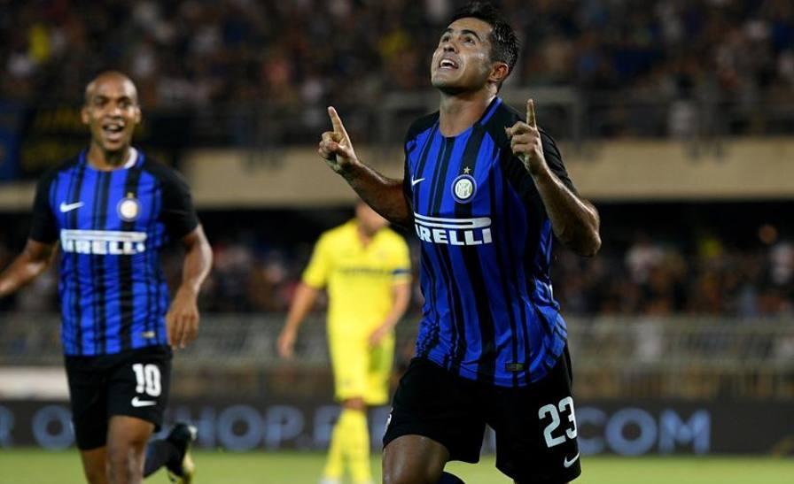 Inter-Villarreal 3-1: gol di Eder, Jovetic e
