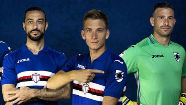 completo calcio Sampdoria originale