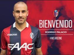 Rodrigo Palacio, 35 anni, neo tesserato del Bologna. Dal profilo Twitter del Bologna