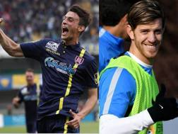 Roberto Inglese del Chievo e il nerazzurro Christian Ansaldi.