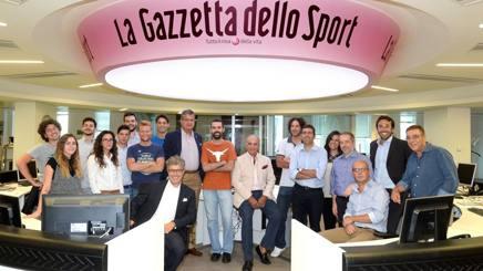 Una parte della redazione di Gazzetta.it