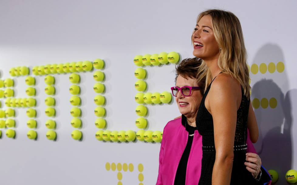 Billie Jean King con Maria Sharapova