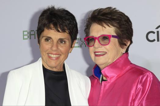Billie Jean King, a destra, con la sua compagna, la tennista sudafricana Ilanna Kloss