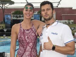 Federica Pellegrini e il suo coach Matteo Giunta. Inside