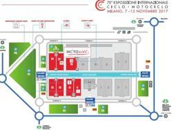 La mappa dell'Eicma 2017